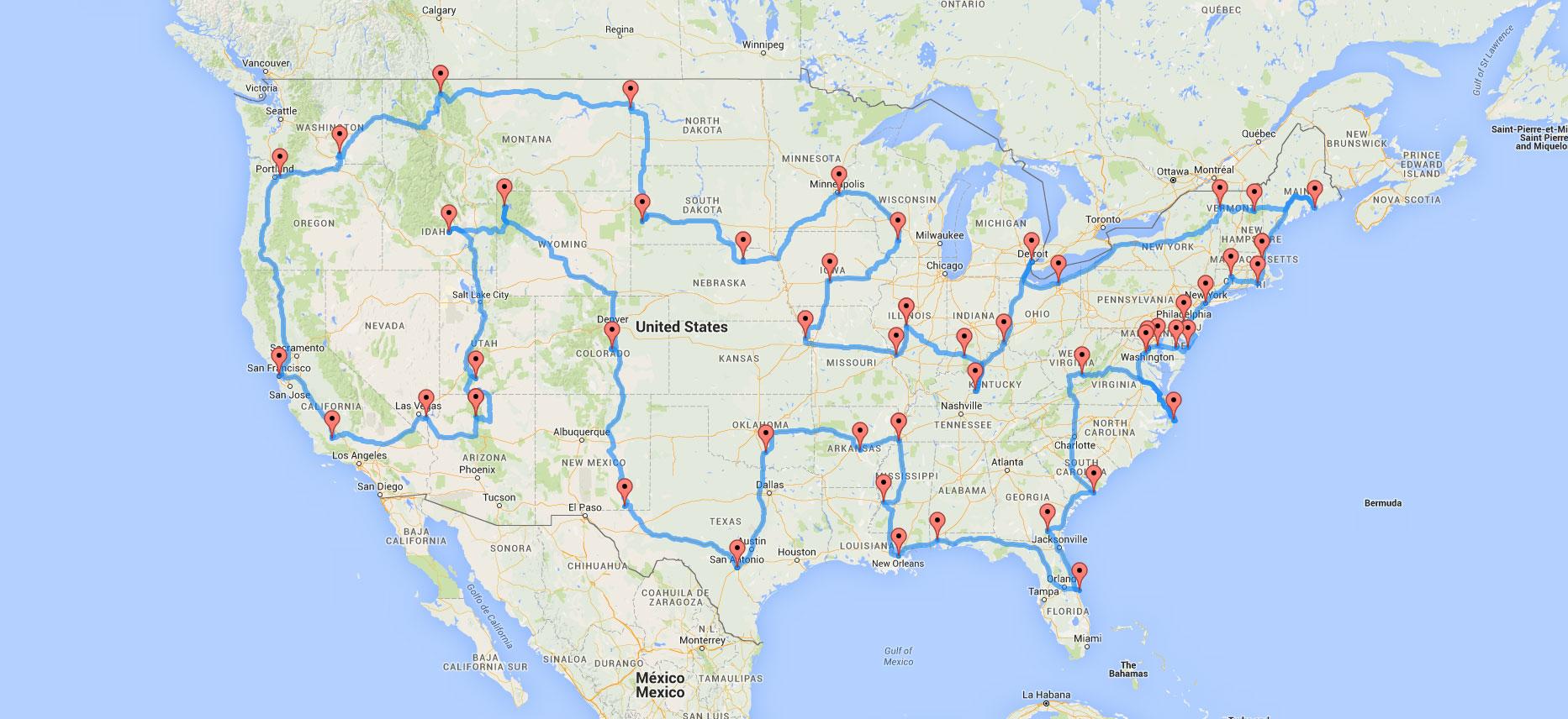 Estados Unidos y Europa, ruta en autocaravana | Todo sobre caravanas ...